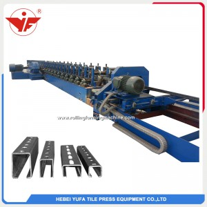 Fly saw cutting chain transmission solar bracket machine
