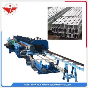 Máquina formadora de rollos de soporte solar de transmisión de caja de engranajes de corte de sierra de mosca