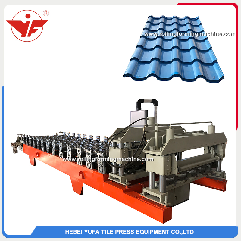 Poland hot sell step tile roll forming machine