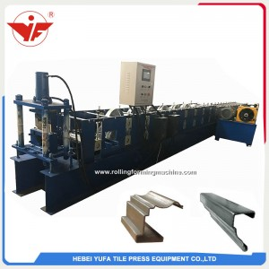 good quality color coated roofing water gutter making machine china
