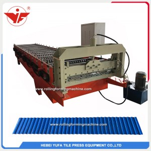 Simple low rib wall color coated roofing sheet roll forming machine