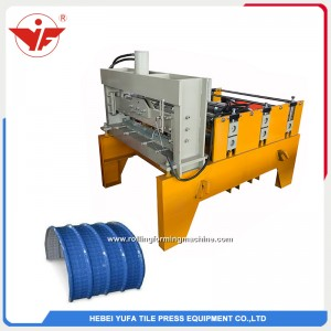 good quality horizontal crimping colored metal sheet bending rolling machine price