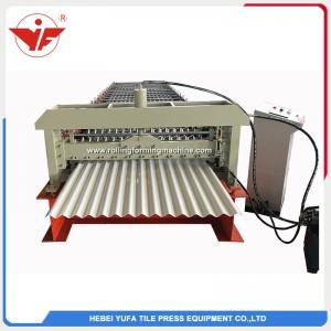 fabricante de máquina formadora de rolos de painel de telhado de chapa ondulada de alumínio para armazém