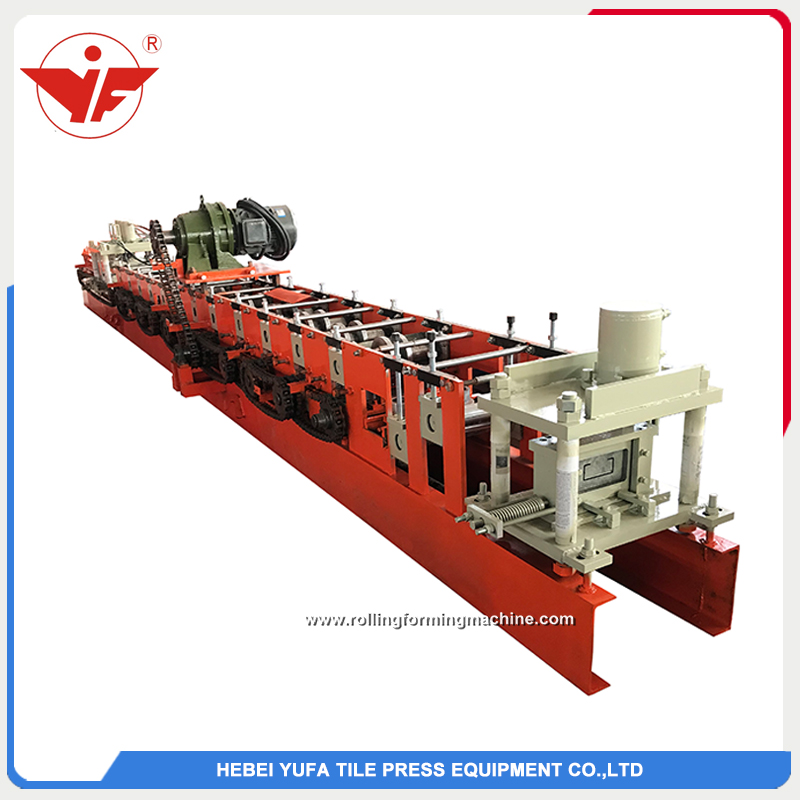 Indonesia used 120 size automatically C beam steel roll forming machine factory