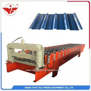 Malaysia used 760 cheap color coated roofing sheet roll forming machine