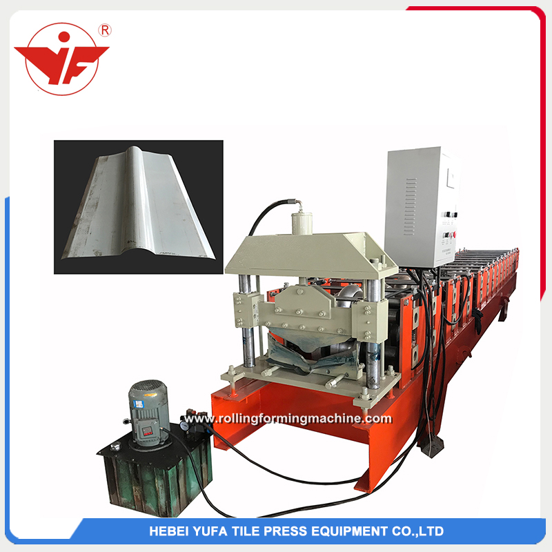 cheap color coated roof tile cap ridge roll forming machine china