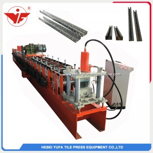 Malaysia Russia used distribution box punching hole C purlin roll forming machine