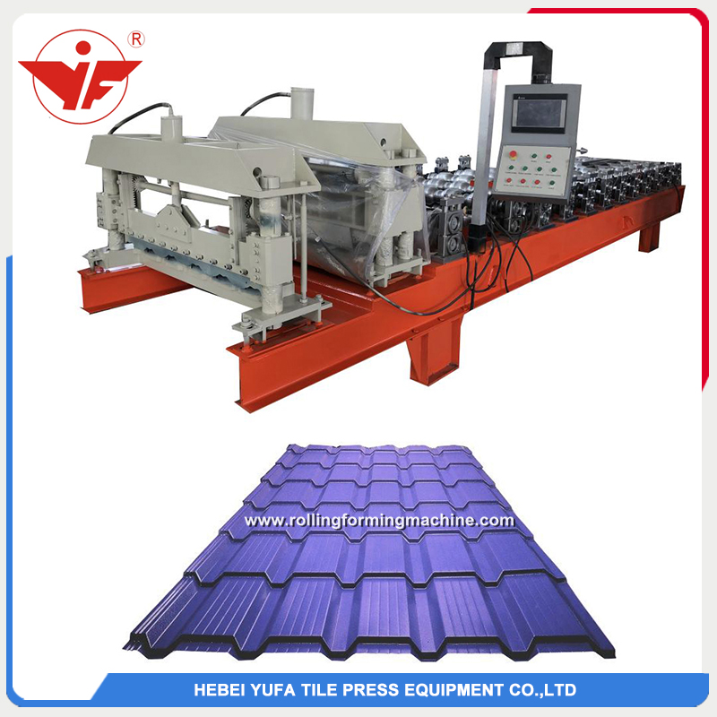 Georgia used T21 step tile roofing panel making machine