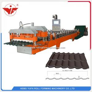 Máquina perfiladora de tejas esmaltadas 1100