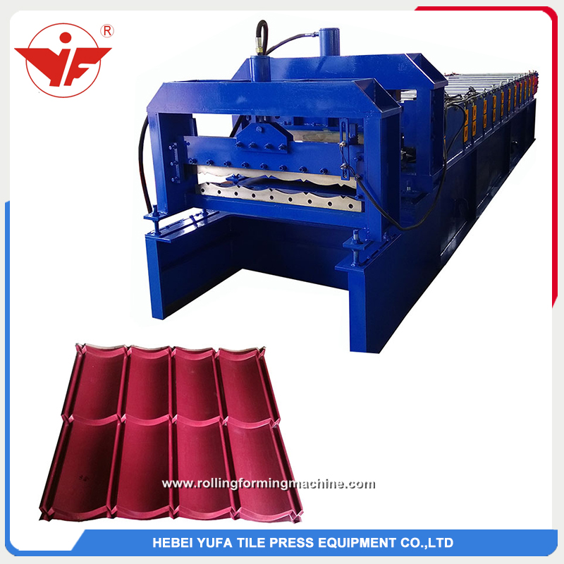 Indonesia used 800 roofing step tile making machine