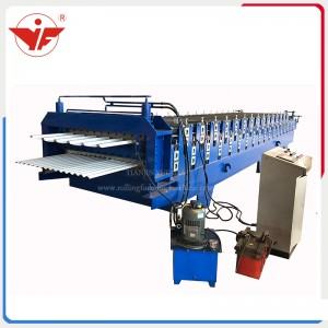 Double deck roll forming machine for Trinidad and Tobago