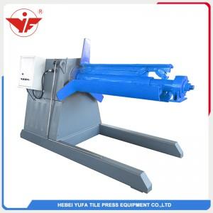 5T simple hydraulic decoiler uncoiler