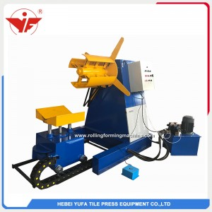 5T hydraulic decoiler uncoiler with car for narrow strips
