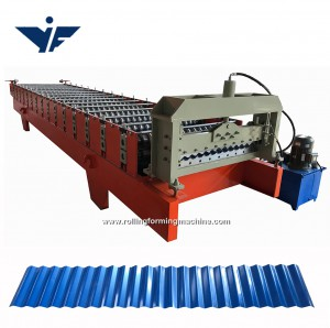 good quality aluminium corrugating colour coated roofing plate roof panel  rolling machine manufacturer