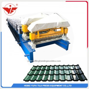 Poland used bamboo type glazed tile roll forming machine