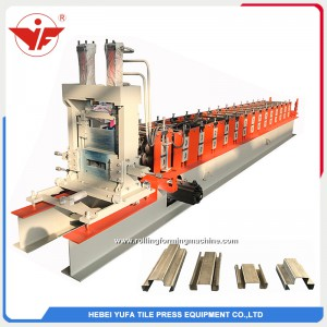 Automatic size changeable omega roll forming machine