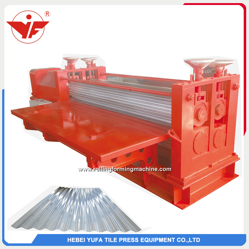 Big barrel thin galvanized corrugated roll forming machine
