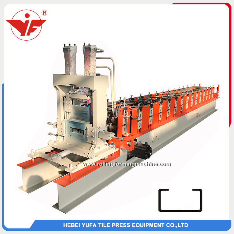 Automatic size changeable C purlin roll forming machine