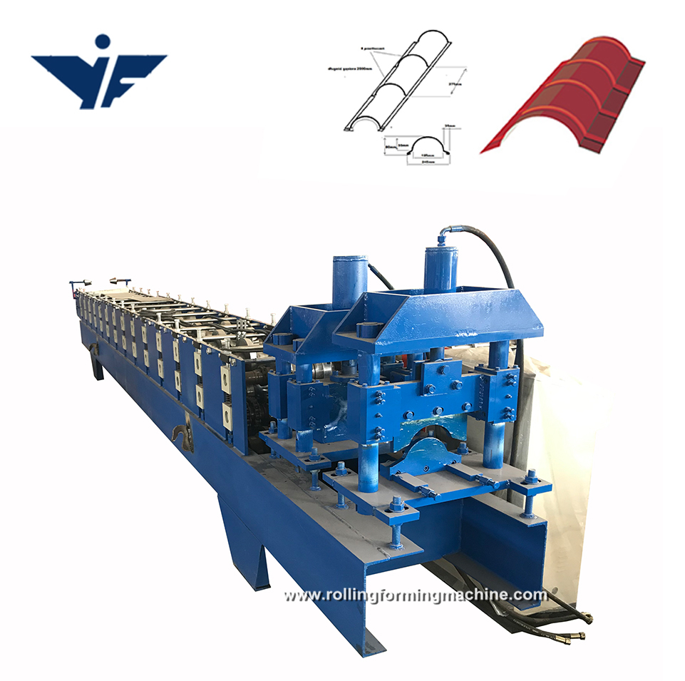 good quality  colour coated roofing ridge cap making machine china