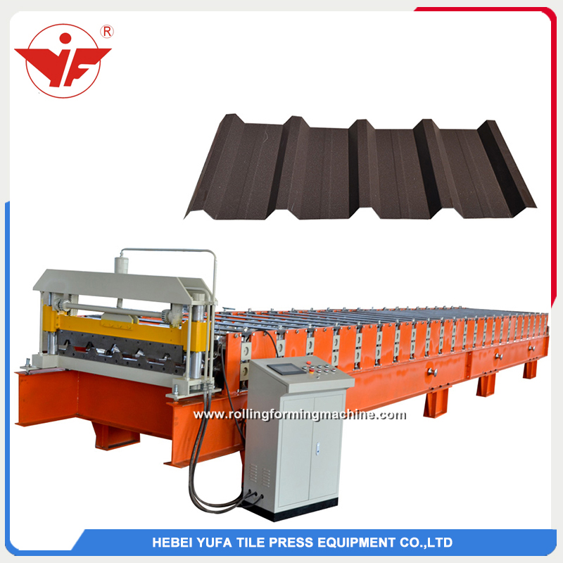 Nigeria used IBR cold steel roofing panel roll forming machine