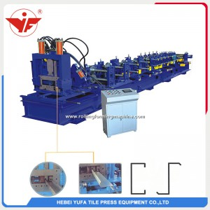 C/Z interchangeable purlin roll forming machine