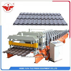 1100mm glazed roof tiles roll forming machine suppliers