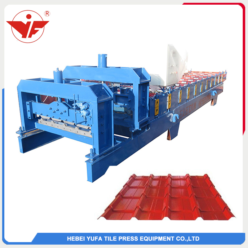 YF25-210-840 glazed tile roll forming machine maufacture