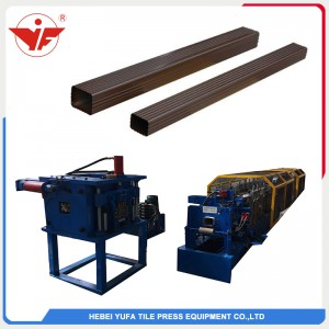 Hydraulic cutting rectangular rain water downpipe roll forming machine