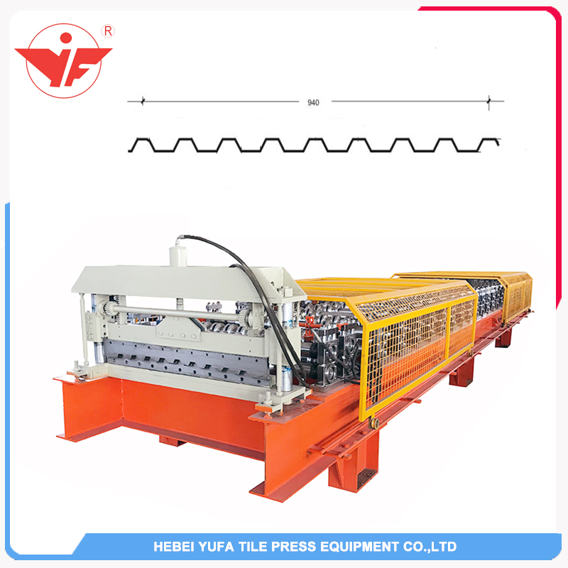 Italy used good quality colour coated roofing sheet roll forming machine video