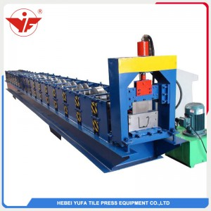 Metal rain gutter roll forming machine