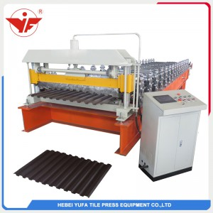 Spandek roofing panel roll forming machine