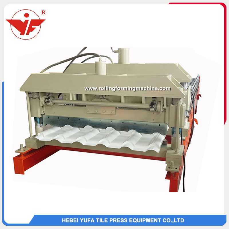 Ukraine used step tile roofing roll forming machine