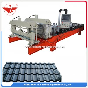 Russia hot sell step tile roll forming machine