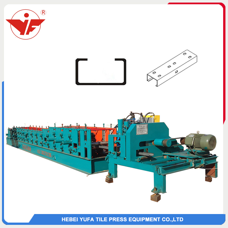 Flay saw cutting size changeable C purlin machine