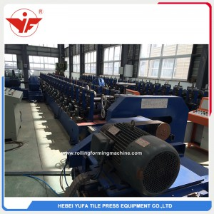 Fly saw cutting chain transmission red color solar bracket roll forming machine