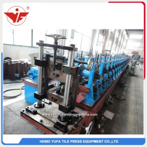 Hydraulic cutting gear box transmission solar bracket roll forming machine