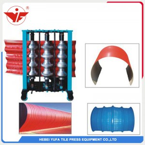 Vertical criping roll forming machine