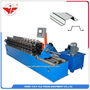 Omega hat roll forming machine