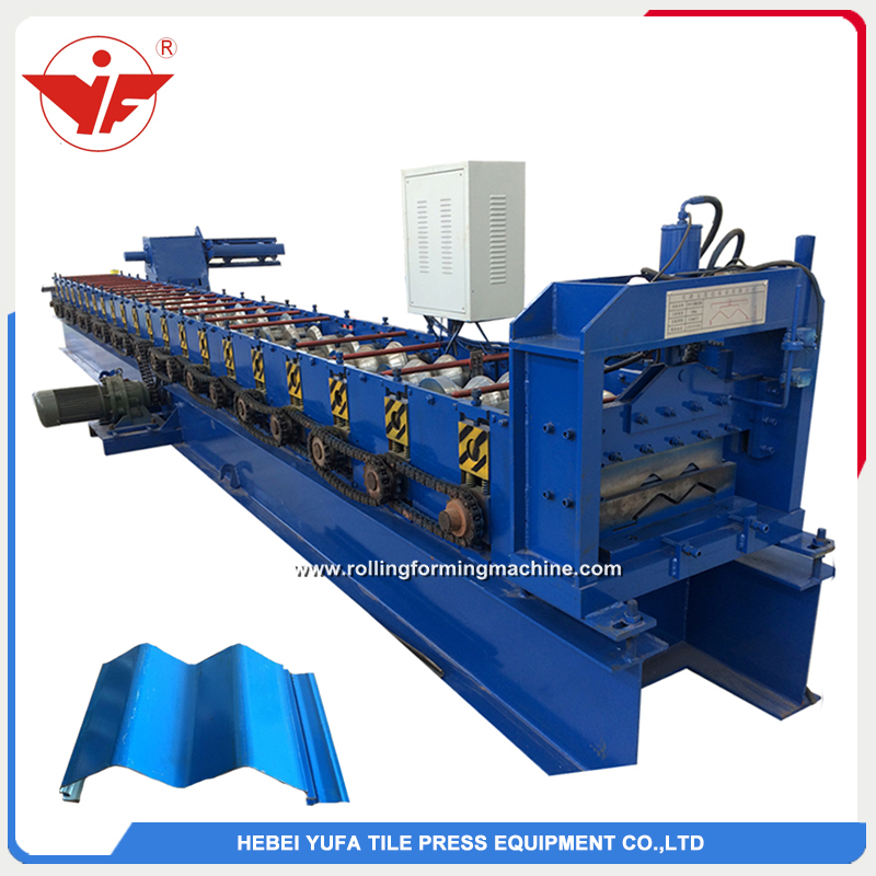 Hidden cladding panel roll forming machine