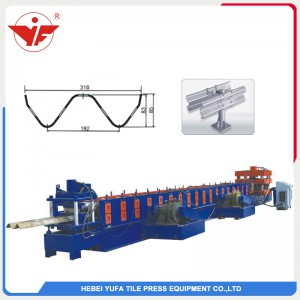 highway guardrail galvanized sheet roll forming machine