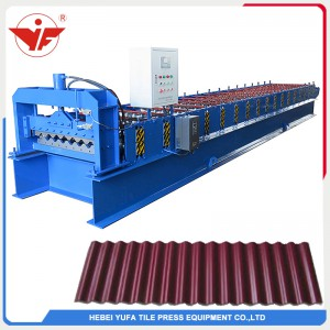 1064 large arch aluminium corrugated roofing machine