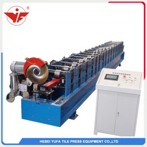 Fly saw cutting Rectangular rain water downpipe roll forming machine
