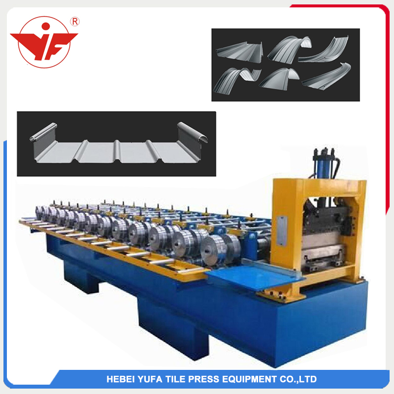 Portable standing seam roofing panel machine