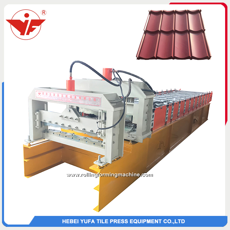 Indonesia hot sell 800 step tile roofing panel machine