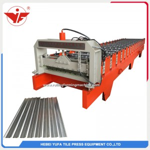 Indonesia used 750 roofing panel roll forming machine